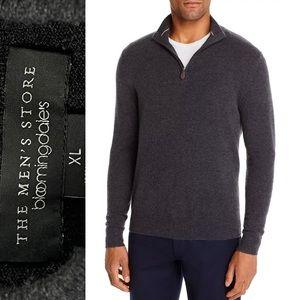 Men's Bloomingdale's Cashmere Half-Zip Sweater XL